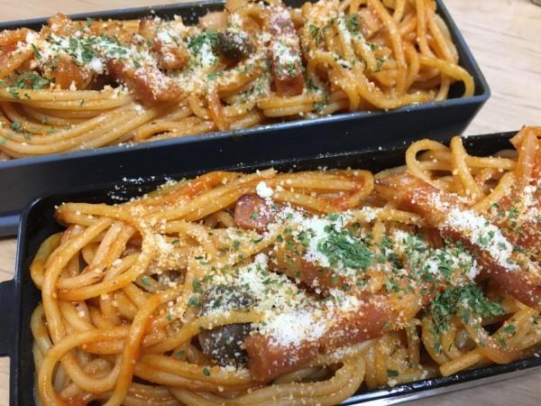 ⑧いつかの昼食、自作弁当はナポリタン2段重ね。